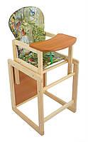 Стульчик деревянный для кормления малыша Птички