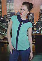 Блузка шифоновая цветная однотонная летняя