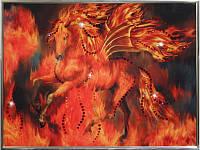 Сверкающая картина из страз Огненный конь