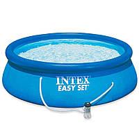 Бассейн надувной Intex Easy Set (244*76 см) с фильтрационным насосом, фото 1