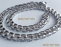 Серебряная мужская цепочка Панцирная с узором