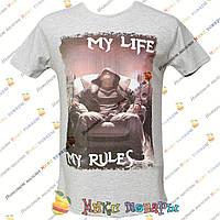 Мужские футболки с Ликрой пр- во Турция от 44 до 50 размера (1-2646)