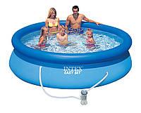 Бассейн надувной Intex Easy Set (305*76см) семейный круглый + фильтрационный насос с картриджем