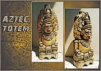 """Бутылка в подарок  """"Аztec totem"""", сувенир в этническом стиле"""