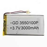 Аккумулятор литий-полимерный 3550100P 3.7V 3000mAh