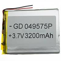 Аккумулятор литий-полимерный 047595P 3.7V 3200mAh