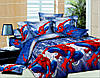 Постельное бельё полуторное Спайдермен / Человек паук 150*220 хлопок (4635) TM KRISPOL Украина