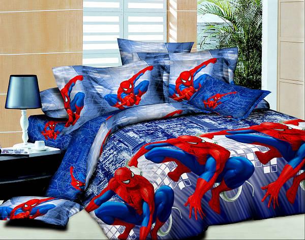 Постельное бельё полуторное Спайдермен / Человек паук 150*220 хлопок (4635) TM KRISPOL Украина, фото 2