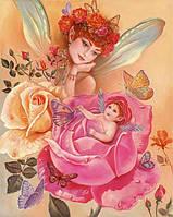 """Принт для вышивки лентами """"фея роз"""""""