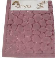 Коврик для ванной круглый 120см  Arya Cakil темно-розовый