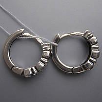 Серебряные серьги с фианитами, 16 камней, фото 3