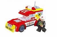 Конструктор аналог LEGO Пожарная машина 91 деталь
