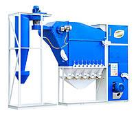 Воздушный  сепаратор для зерна САД-10 с циклоном ( очистка и калибровка зерна)
