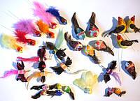 Птички искусственные на прищепке