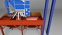 Зерновой  сепаратор аэродинамический САД-150 с циклоном для очистки зерна