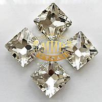 Cтразы в цапах Квадрат Размер 8х8 мм, цвет Crystal