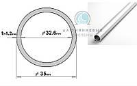 Алюминиевая труба. ПАС-2210 35х1.2 / без покрытия