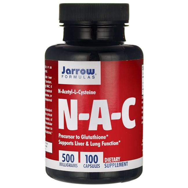 НАК (N-Ацетил-L-Цистеин) / NAC (N-Acetyl-L-Cysteine), 500 мг 100 капсул