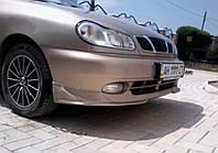 Накладки переднего бампера (Клыки) Daewoo Lanos