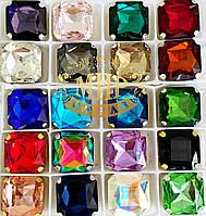 Cтразы в цапах Квадрат Размер 23х23 Цвет (на выбор)