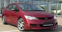 """Накладка на передний бампер """"Mugen"""" для Honda Civic , Хонда Цивик"""