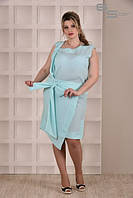 Платье ментоловое Дания (размеры 42-74)