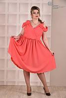 Платье коралловое Испания (размеры 42-74)