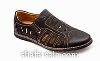Мужские сандалии черные под нубук