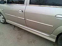Боковые пороги (под покраску) - Dacia Logan I (2005-2008)