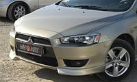 Клыки переднего бампера Mitsubishi Lancer Х