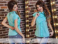 Женская летняя блуза необычного кроя