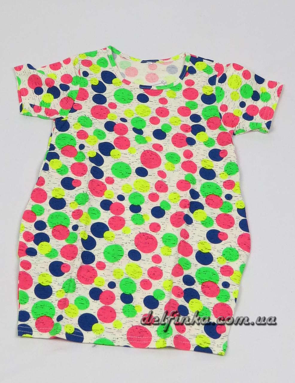Трикотажная туника - платье с карманами бабочка для девочки от 3-6 лет, фото 4