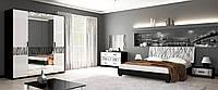 Спальня Терра Глянець білий - Чорний мат, фото 1