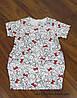 Трикотажная туника - платье с карманами бабочка для девочки от 3-6 лет