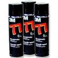 Клей спрей 3M 77 для ткани, пленки,500ml