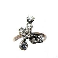 Кольцо - фианиты и серебро