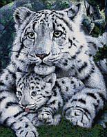 Вышивка крестом набор Два белых тигра 38х46 см (арт. MK005)