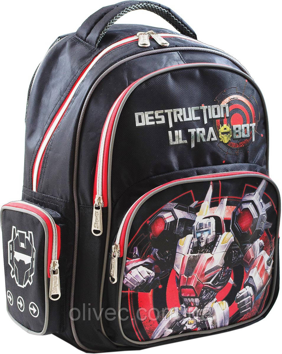 """Ранец 1 Вересня """"Ultrabot"""" 37х28х12 см."""