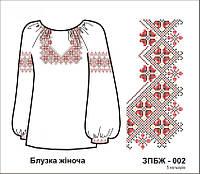 Схема для вышивания женской блузы