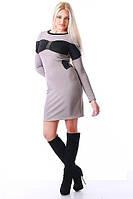 Стильное женское платье открытая спина бежевое