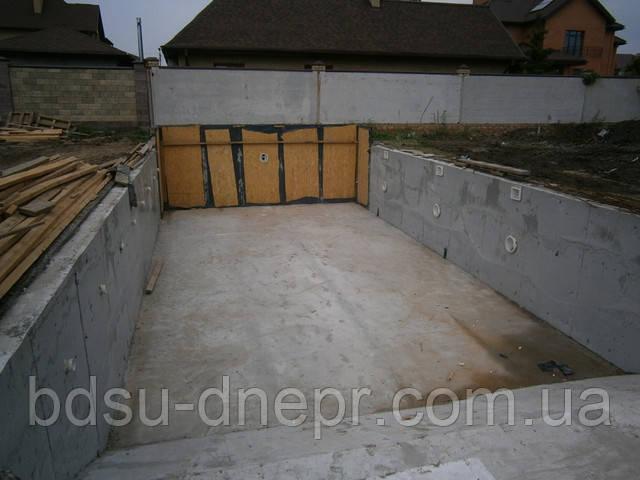Бетонирование бассейнов в Днепропетровске