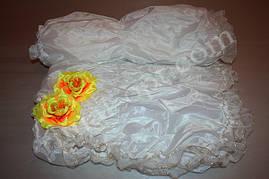 Обивка внутренняя на гроб из шелка с белорусским кружевом (вклад)