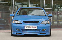 Накладка на передний бампер Opel Astra G, Опель Астра Г