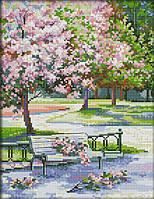 Вышивка крестом набор Весной в парке 27х36 см (арт. MK008)