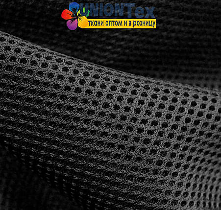 Трикотаж неопреновая сетка черная, фото 2