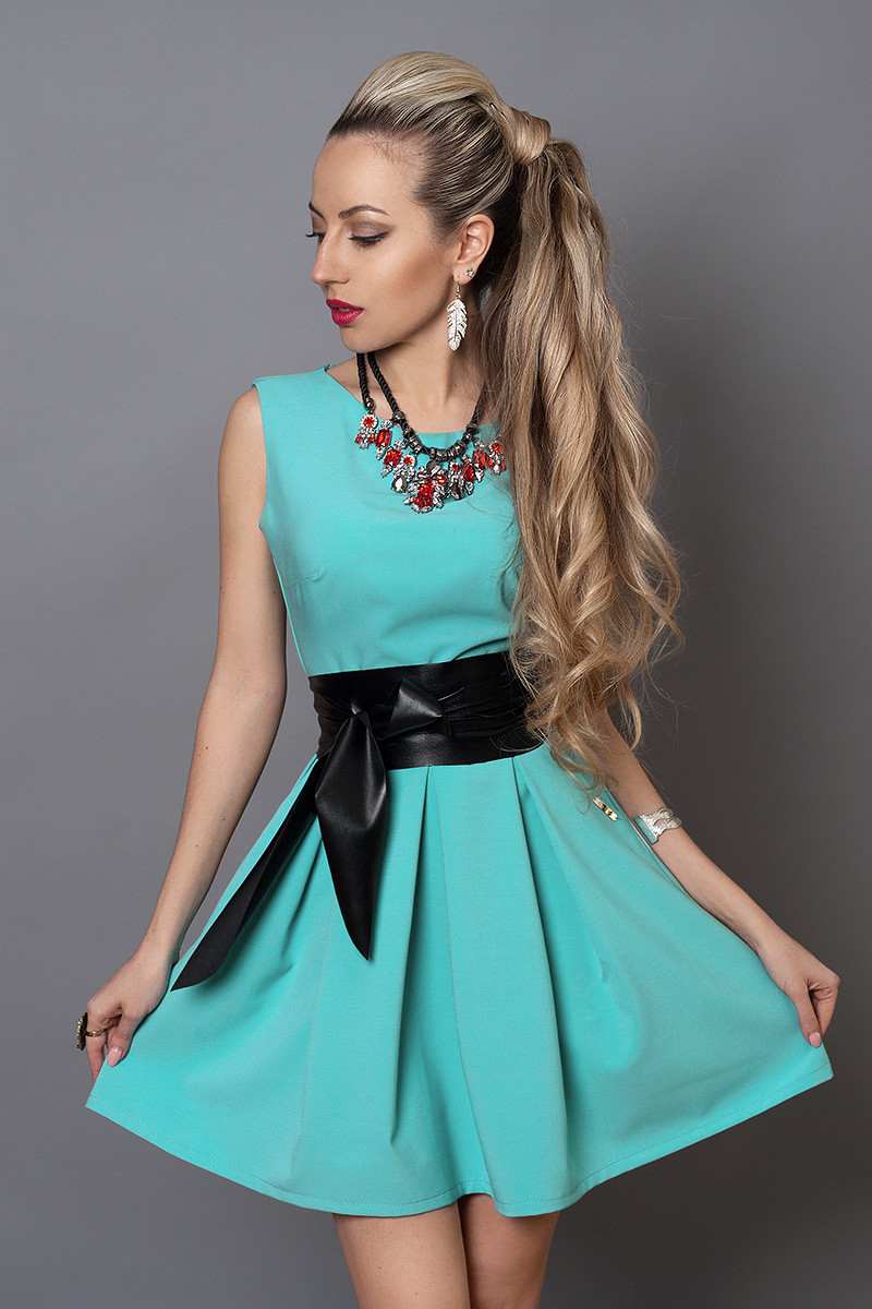 Сукня мод 385 -11 розмір 46,48 блакитна бірюза