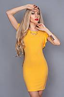 Платье  мод 241-4 размер 46,48 желтое