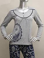 Пижама женская со штанами с узором