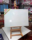 Холст чистый на подрамнике, грунтованный, 50х50 см., фото 5