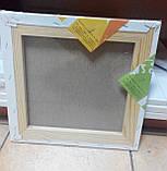 Холст чистый на подрамнике, грунтованный, 50х50 см., фото 6